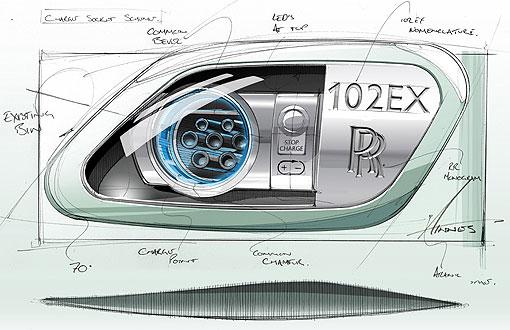 随著包括这张手绘设计图在内的厂图发表,也证实rolls-royce将以102ex