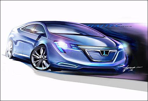 车展展厅设计手绘图; luxgen neora完整手绘图曝光,预告上海车展首演