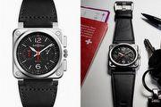 為專業人士製作功能型腕錶 BR03-94 Black Steel / Blue Steel