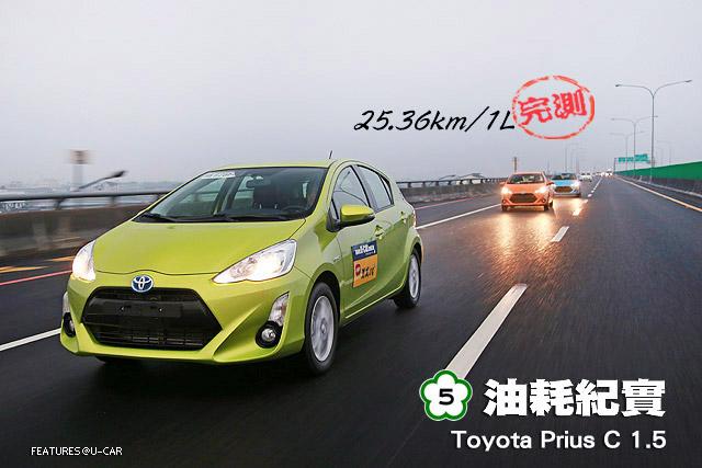 [國道5號油耗紀實]─Toyota Prius C 1.5