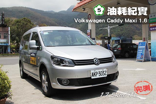 [國道5號油耗紀實]  ─ Volkswagen Caddy Maxi 1.6