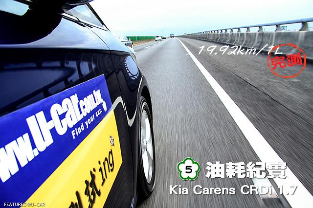 [國道5號油耗紀實] ─ Kia Carens CRDi 1.7