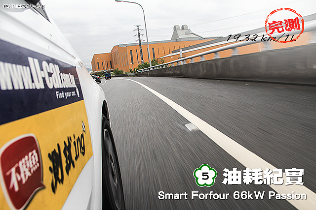 [國道5號油耗紀實]─Smart Forfour 66kW Passion