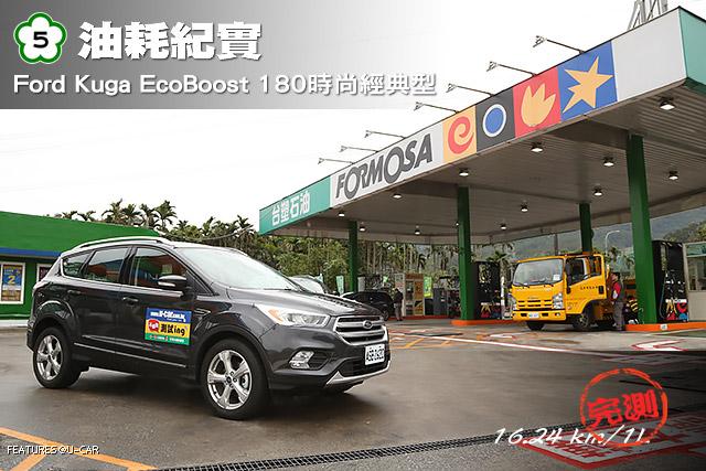 [國道5號油耗紀實]Ford Kuga EcoBoost 180時尚經典型,實測16.24 km/L達成