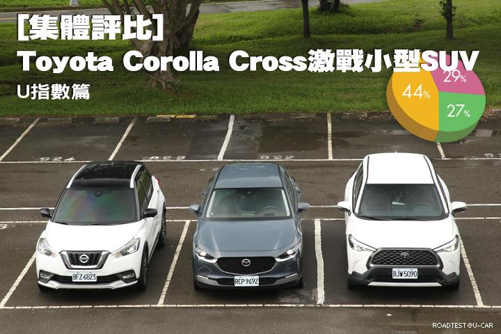 [集體評比]Toyota Corolla Cross激戰小型SUV─U指數篇