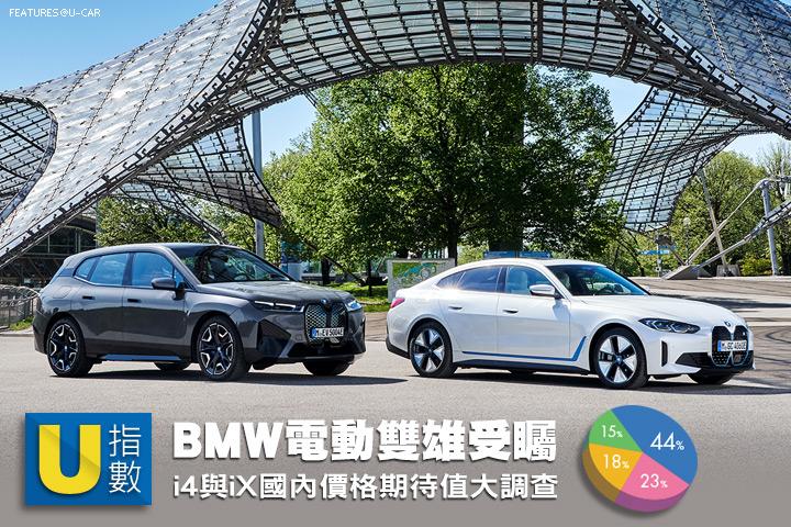 [U指數] BMW電動雙雄受矚,i4與iX國內價格期待值大調查